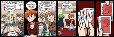 got up one morning, decided, hey, let's write some depressing apples to apples comics