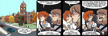 this is not the first dumbing of age strip in which the la porte county courthouse has appeared