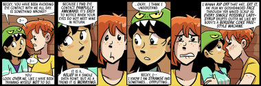 becky wants to party like it's dumbing of age strip 1999