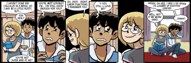 so super incredibly tempted to have no dialogue in the last panel except 'no'