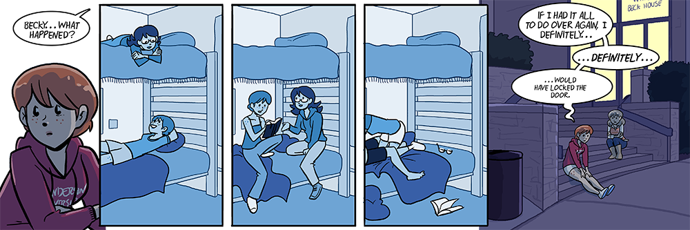 oh hey remember becky's roommate i bet you don't, she was in like one whole panel in 2012