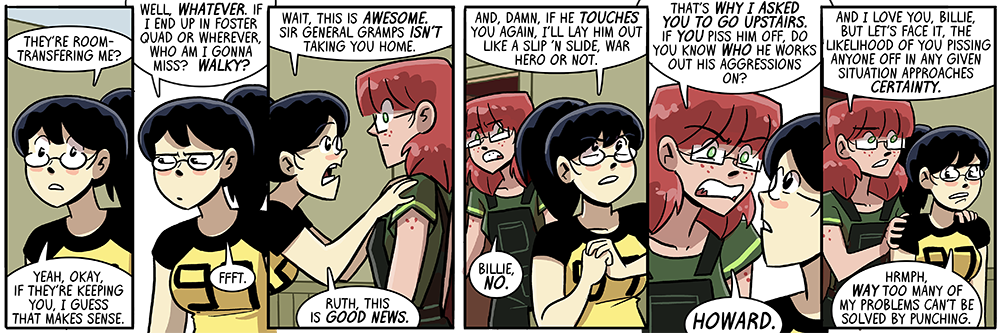 dumbing of age: not everything can be solved by punching, but enough can to be interesting