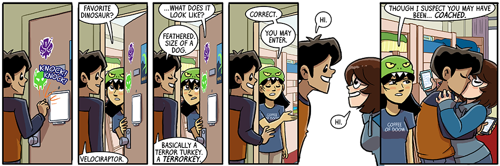 dumbing of age is 8 years old now!  look how far we've come!  walkys and ambers, smooching together, mass hysteria!