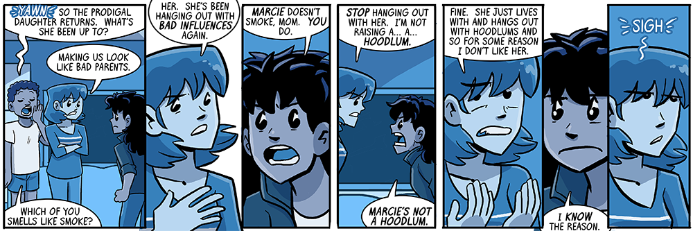 fun fact: marcie is not actually a hoodlum!