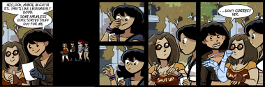 have folks started noticing yet that sign language is often translated in the title of these strips