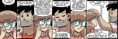 dumbing of age book 11: you're actually just some random fart of proteins