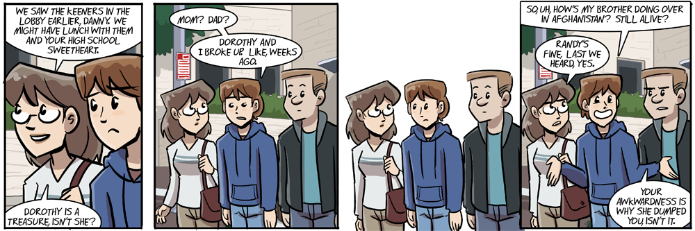 in the old continuity randy was danny's younger brother but now he's his older brother, so there
