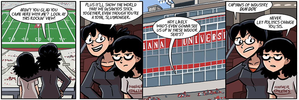 dumbing of age turns three tomorrow, let's celebrate with three new incredibly detailed backgrounds which took me forever to assemble
