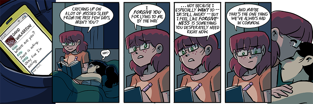 i almost ended the storyline on yesterday's strip so you're welcome