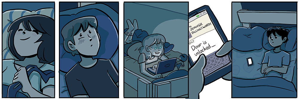 it's not the last strip of a book unless everyone is in bed and angsting