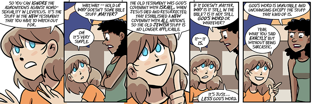 dumbing of age cast page now includes becky's leg