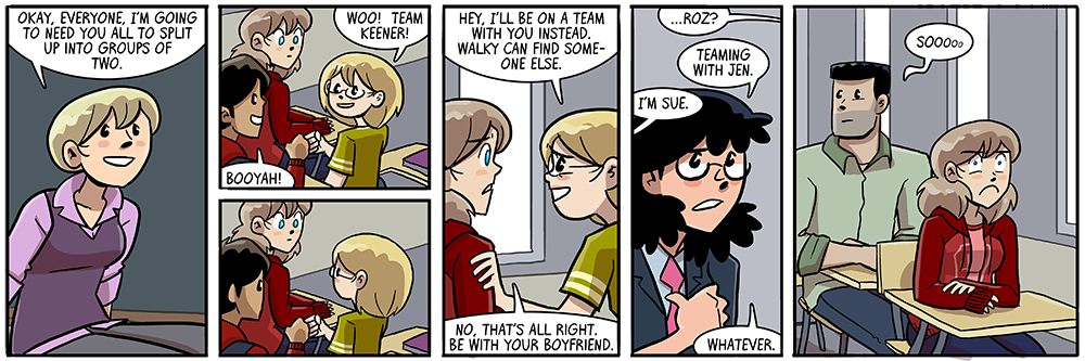 great now she's commenting first INSIDE the comic ITSELF now