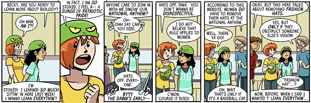 that first word balloon is also dina's come-on line