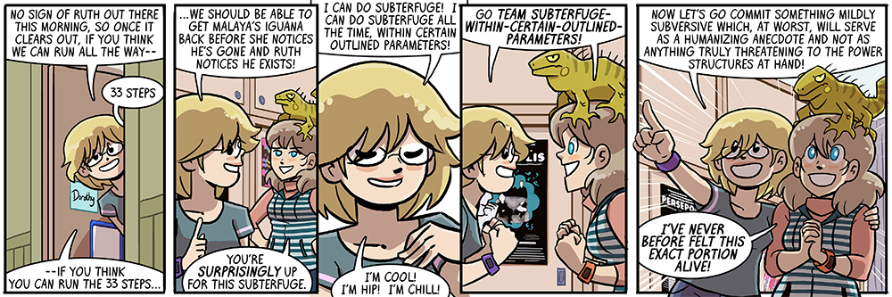 there's definitely a book nine title in this strip
