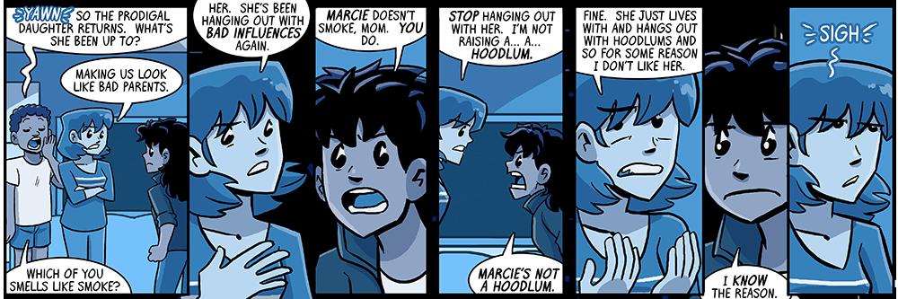 fun fact: marcie is not actually a hoodlum!