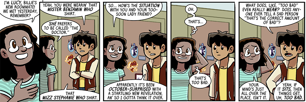 that's right this strip takes place in the middle of october, so it works