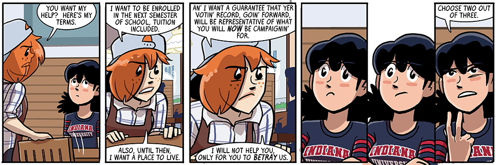 mary and becky are kinda doin' a goofus and gallant thing this storyline vis-a-vis getting paid for your work